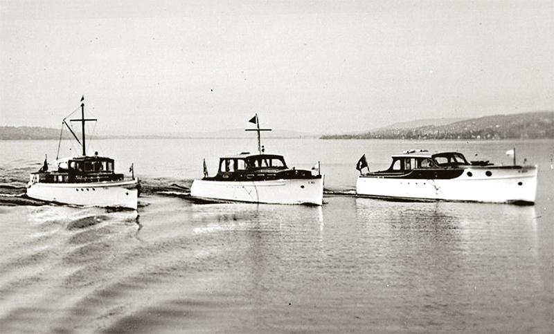 Bootsparade ca. 1936, AJAX in der Mitte