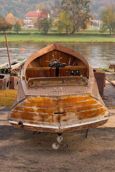 Treichler-Boot von 1906 (Dresdener Scheunenfund).