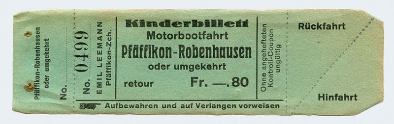 Kinderbillett Pfäffikon – Robenhausen (Wetzikon)