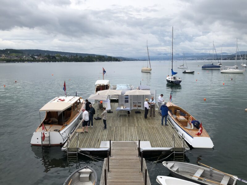 Alle vier grossen Schiffe der Stiftung - bereit für Publikumsfahrten